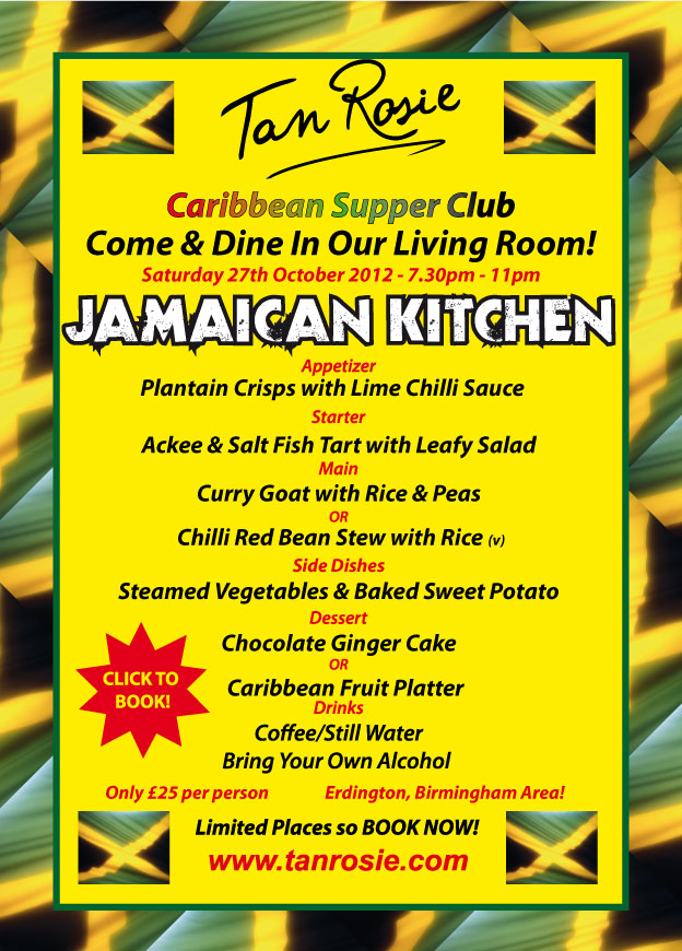 Tan rosie supper club menus august to december 2012 tan for Jamaican kitchen designs
