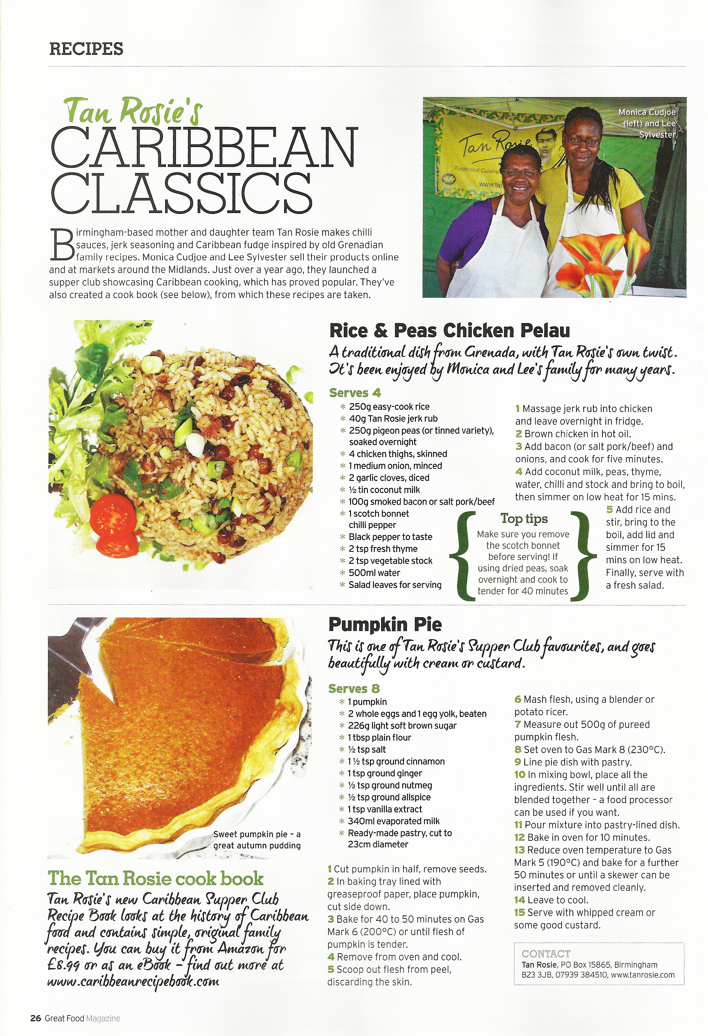 Tan rosie in great food magazine september 2012 tan rosie like this forumfinder Image collections
