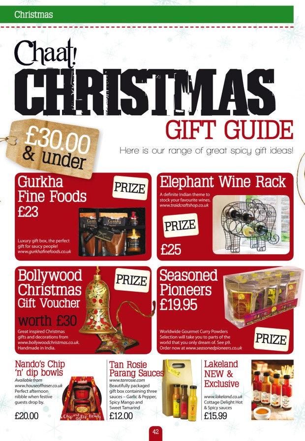 Christmas Gift Guide Magazine.Tan Rosie In Chaat Magazine Christmas Gift Guide 2012 Tan