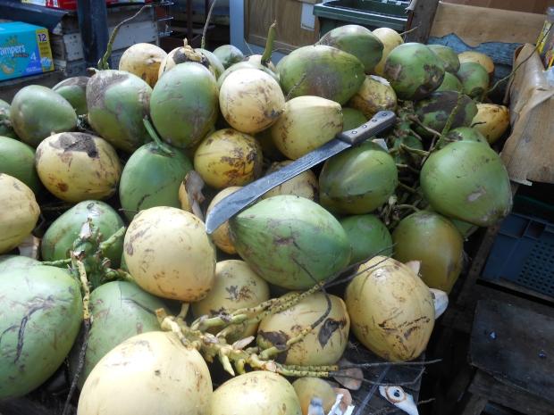 Coconuts Grenada market