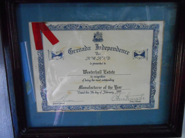 Westerhall Rum Grenada Award