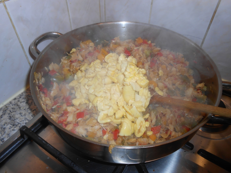 Ackee and Salt Fish on the hob
