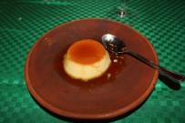 Flan with caramel sauce for dessert